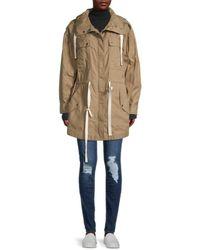 FRAME Women's Cotton-blend Hooded Parka - Cargo Multi - Size S - Natural