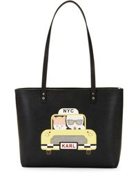 Karl Lagerfeld Taxi Maybelle Tote - Black