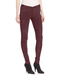 Alice + Olivia Women's Suede Legging Pants - Charcoal - Size 4 - Purple