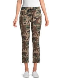 True Religion Women's Camo-print Jogger Trousers - Camo Print - Size M - Green