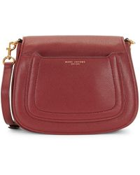 Marc Jacobs Empire City Leather Messenger Bag - Red