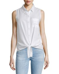 Beach Lunch Lounge - Front-tie Sleeveless Top - Lyst