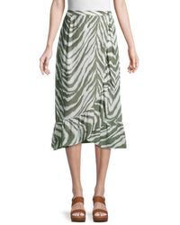 French Connection Tiger-print Wrap Skirt - White