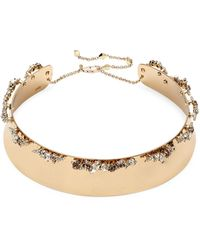 Alexis Bittar 10k Goldplated & Crystal Collar Necklace - Multicolour