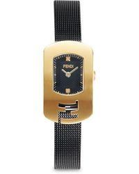 Fendi Goldtone Stainless Steel & Diamond Mesh-strap Watch - Metallic