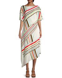 St. John Striped Casual Maxi Dress - Multicolour