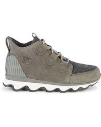Sorel Kinetic Caribou Faux Fur Waterproof Sneakers - Black