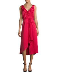 French Connection - Maudie Drape Midi Dress - Lyst