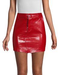 RTA - Callie Patent Leather Mini Skirt - Lyst