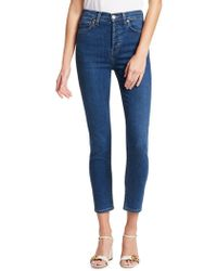 RE/DONE Ultra Stretch High-rise Ankle Skinny
