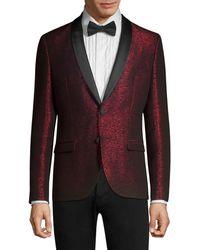 HUGO Arti Extra Slim-fit Sparkle Jacket - Red
