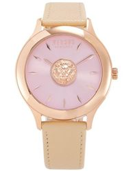 Versus Women's Rose Goldtone Stainless Steel & Leather-strap Watch - Pink