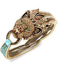 Heidi Daus Goldtone & Crystal Lion Bracelet - Multicolour