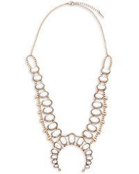Saks Fifth Avenue   Goldtone Embellished Necklace   Lyst