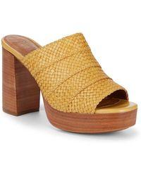 Frye - Katie Woven Leather Platform Sandals - Lyst