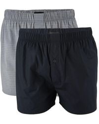 Bally 2-pack Check Cotton Boxers - Gray