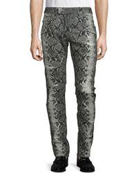 Balmain Animal-print Jeans - Black