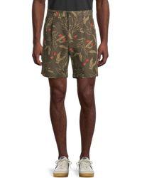 Rag & Bone Printed Cotton-blend Shorts - Multicolour