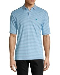 Tommy Bahama Seville Striped Polo Shirt - Blue