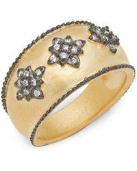 Freida Rothman - Starburst Cubic Zirconia Ring - Lyst