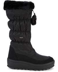 Pajar Tegan Faux Fur Quited Snow Boots - Black