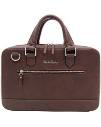 Robert Graham Buster I Faux Leather Briefcase - Brown