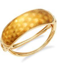 Alexis Bittar 10k Goldplated & Crystal Rocky Hinged Bangle Bracelet - Multicolour