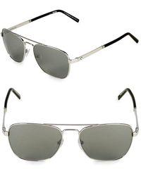 31d1b758cef3b Lyst - Montblanc 61mm Aviator Sunglasses in Metallic