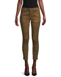 Joie Women's Cheetah-print Cropped Jeans - Lacquer - Size 24 (0) - Multicolor