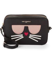 Karl Lagerfeld Maybelle Cat Shoulder Bag - Black