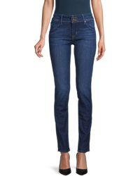 Hudson Jeans Mid-rise Skinny Jeans - Blue