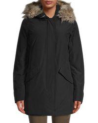 Woolrich Arctic Faux Fur-trim Down Parka Coat - Black