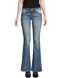 Miss Me Embellished Bootcut Jeans - Blue