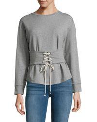 Lea & Viola - Corset Lace-up Sweatshirt - Lyst