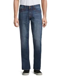 True Religion Men's Ricky Big T Relaxed-fit Straight Jeans - Blue - Size 31