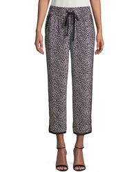 Diane von Furstenberg Printed Silk Trousers - Multicolour