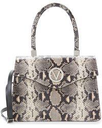 Valentino By Mario Valentino - Melanie Embossed Leather Top Handle Satchel - Lyst