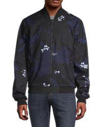 Greyson Men's Arawalk Floral Bomber Jacket - Twilight - Size S - Blue