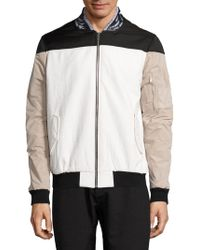 Les Benjamins - Leather Collar Bomber Jacket - Lyst