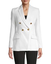 A.L.C. Sedgwick Linen-blend Double-breasted Jacket - White