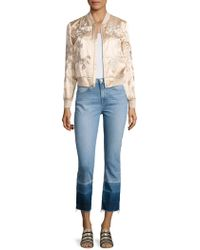 3x1 Suka Satin Floral-embroidered Bomber Jacket - Multicolour