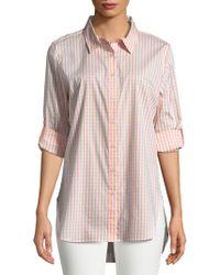 Calvin Klein Gingham Button-down Shirt - Pink