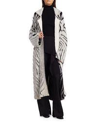 3.1 Phillip Lim Zebra Fringe Coat - Black