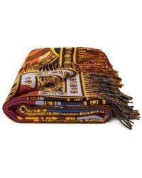 Versace Printed Wool Throw - Multicolour
