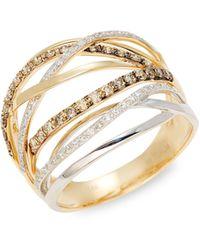 Saks Fifth Avenue 14k Yellow Gold Unicorn Stud Earrings - Multicolor