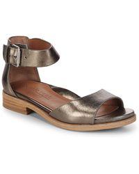 Gentle Souls - Gracey Metallic Ankle-strap Sandals - Lyst