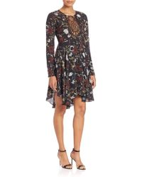 A.L.C. - Cynthia Fit & Flare Silk Dress - Lyst