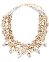 Saks Fifth Avenue - Crystal Stoned Statement Necklace - Lyst