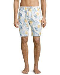 Hanro Night & Day Woven Print Shorts - Blue