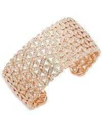 Adriana Orsini - Anise Crystal Wide Cuff Bracelet - Lyst